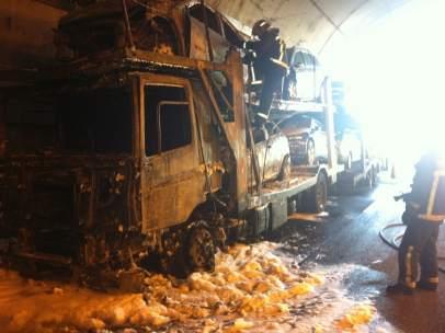 Incendio en el túnel de Somosierra