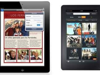 iPad 2 y Kindle Fire