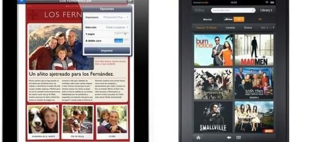 Kindle Fire y iPad 2, cara a cara