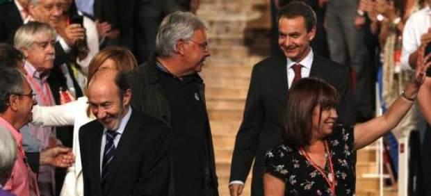 Felipe González, Zapatero y Rubalcaba