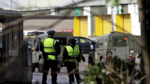 Policía en Belfast