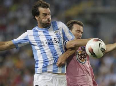 Van Nistelrooy y Mané en el Málaga - Getafe