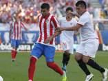Reyes y Medel en el Atlético - Sevilla