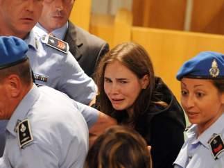 Amanda Knox, tras ser absuelta de asesinato