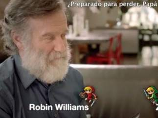 Robin Williams se juega la barba con su hija al 'Zelda'