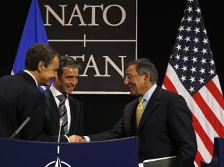 Zapatero, Rasmussen y Panetta