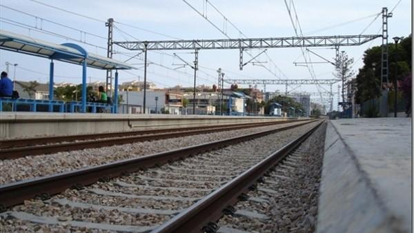 Imagen de archivo de unas vías de tren.