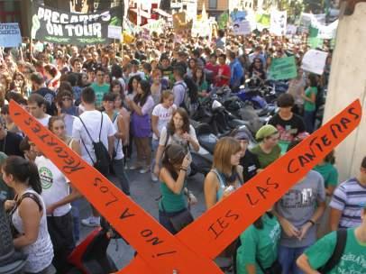 Huelga de estudiantes en Madrid