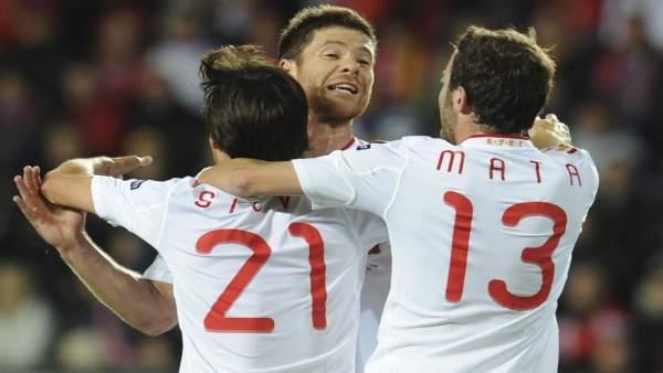 Xabi, Silva y Mata