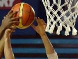 Imagen de un partido de baloncesto