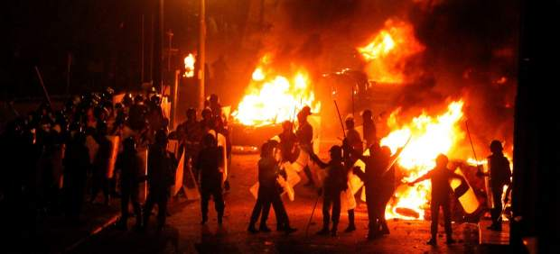 Disturbios en una manifestaci�n de coptos