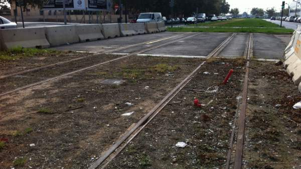 Obras de la línea 2 del metro de Valencia paralizadas