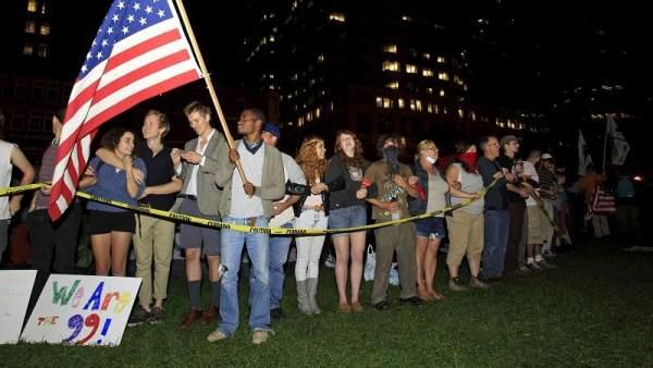 Manifestantes de 'Occupy Boston'