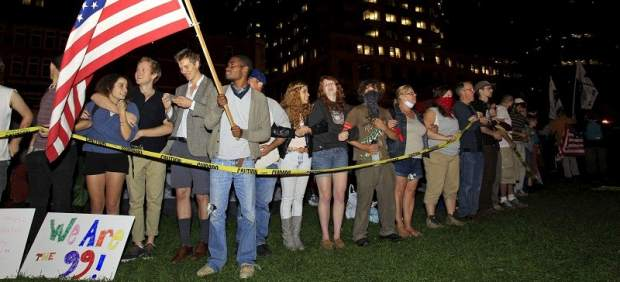 Manifestantes de 'Occupy Boston'