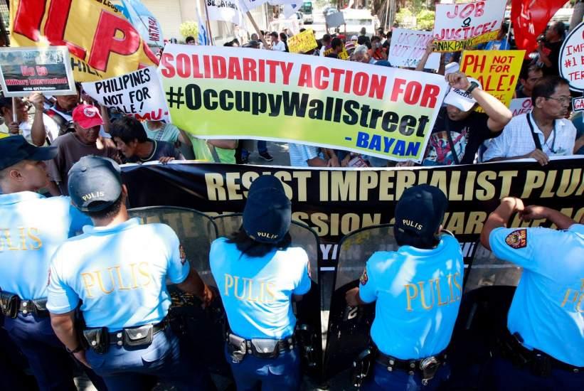 Manifestación en Manila