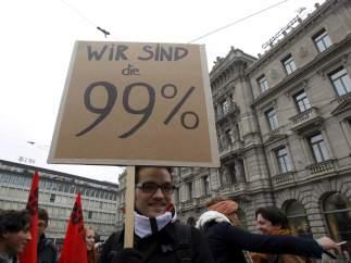 Contra la banca en Zúrich
