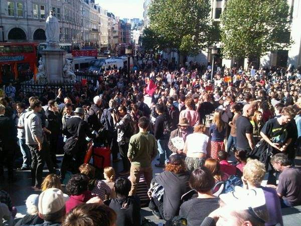 La protesta del 15-O en Londres