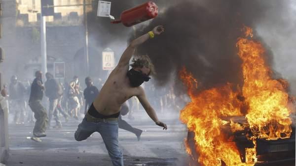 Enfrentamientos en Roma