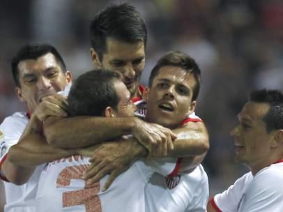 Gol de Manu del Moral con el Sevilla