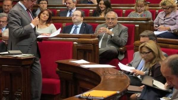 El Parlament catalán.