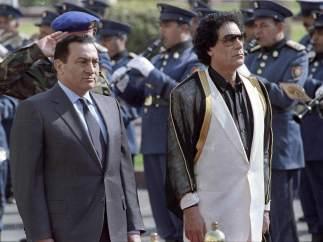 Gadafi y Mubarak