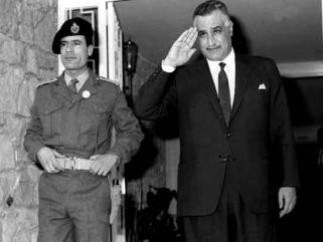 Gadafi y su ídolo