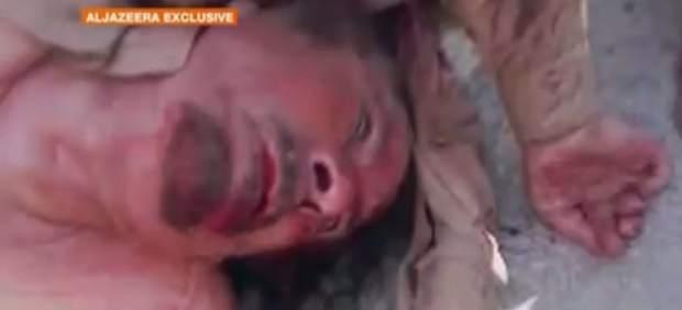 Imagen de Gadafi muertov