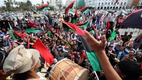 Fiesta por la muerte de Gadafi