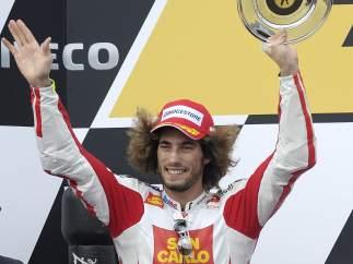 Simoncelli, en el podio