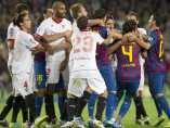 Tangana en el Barça - Sevilla con Kanouté y Cesc