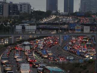 Gran atasco en el acceso a Madrid
