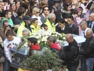 Funeral de Simoncelli en Coriano