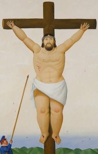 Foto Cristo En La Cruz Botero Engorda A Jesucristo