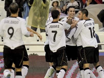 Gol Feghouli con el Valencia