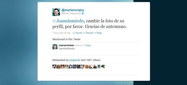 Usuarios de Twitter cambian en el día de Halloween la foto de su avatar por la imagen de Rajoy