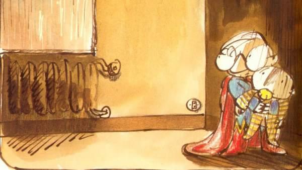 Ilustracíón de Manolito Gafotas