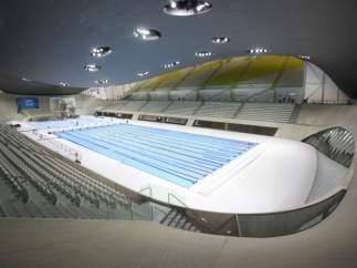 Una piscina del Centro Acuático de Londres 2012