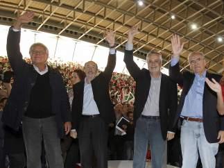 Rubalcaba con Felipe González y Alfonso Guerra
