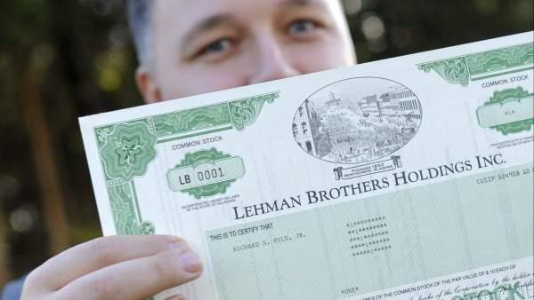 Acción de Lehman Brothers