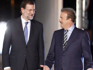 Rajoy, con el moderador