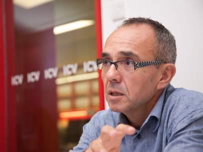 Joan Coscubiela, candidato de ICV-EUiA al Congreso de los Diputados.