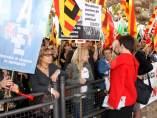 Protesta de metges al Parlament.