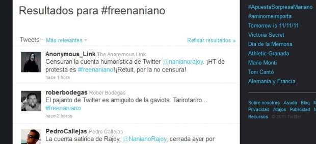 Polémica en Twitter por el cierre de una cuenta que parodiaba al líder del PP Mariano Rajoy