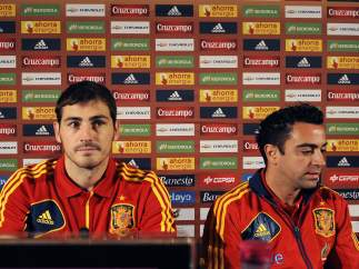 Del Bosque, Casillas y Xavi
