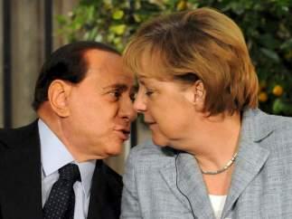 Berlusconi y Merkel