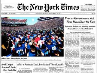 Portada de 'The New York Times'