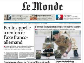 Portada de 'Le Monde'