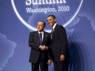 Con el presidente de EE UU, Obama