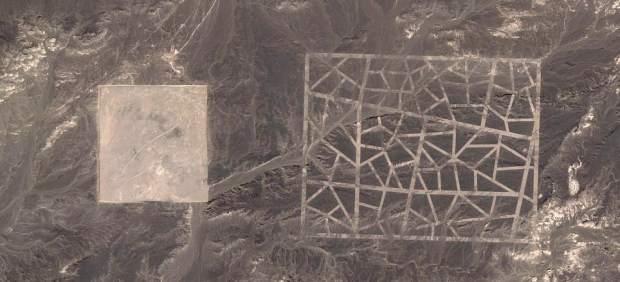 Descubren unas misteriosas líneas en el desierto de Gobi gracias a Google Earth