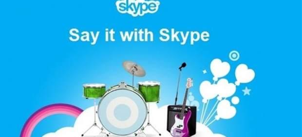 Felicitaciones con grupos musicales con una aplicación de Skype para Facebook